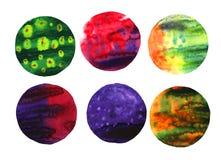 Waterverf Abstracte Cirkels Royalty-vrije Stock Foto