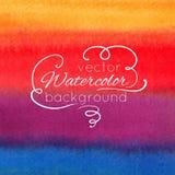 Waterverf abstracte kleurrijke achtergrond Stock Foto's