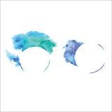 Waterverf abstracte vectorbanner met plons, grafic element, creatieve kunst, waterverf baner, Stock Afbeelding