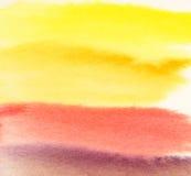 Waterverf abstracte warme achtergrond Verse kleurrijke achtergrond Stock Foto