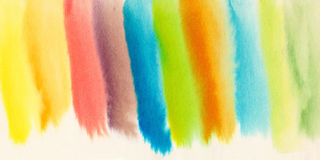 Waterverf abstracte warme achtergrond Verse kleurrijke achtergrond Stock Fotografie