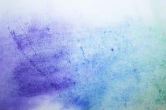 Waterverf achtergrond blauwe verfvlekken op papier royalty-vrije stock fotografie