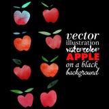 Waterverf Apple Royalty-vrije Stock Fotografie