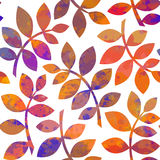 Waterverf Autumn Abstract Background Stock Foto's