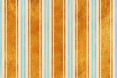 Waterverf beige, lichtblauwe en gouden gestreepte achtergrond Royalty-vrije Stock Afbeelding