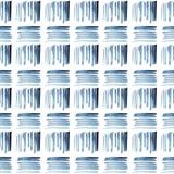 Waterverf blauw en wit etnisch naadloos patroon stock afbeelding