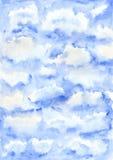 Waterverf blauwe achtergrond Stock Afbeelding