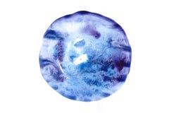 Waterverf blauwe cirkel Stock Afbeeldingen