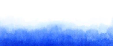 Waterverf blauwe vage textuur als achtergrond met ruimte voor de banner van het tekstweb stock fotografie