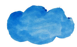 Waterverf blauwe wolk voor ontwerp Stock Foto's