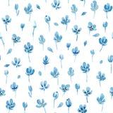 Waterverf bloemen naadloos patroon Royalty-vrije Stock Fotografie