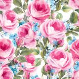 Waterverf bloemen vectorpatroon royalty-vrije illustratie