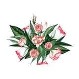 Waterverf bloemenboeket Royalty-vrije Stock Foto's