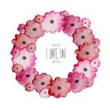 Waterverf bloemenkader Royalty-vrije Stock Afbeelding