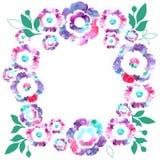 Waterverf bloemenkroon Royalty-vrije Stock Fotografie