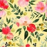 Waterverf bloemenpatroon royalty-vrije illustratie