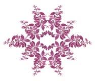Waterverf bloemenpatroon met purper takje Royalty-vrije Stock Afbeelding
