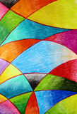 Waterverf Crayo Royalty-vrije Stock Afbeelding