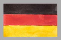 Waterverf Duitse Vlag Vector illustratie Royalty-vrije Stock Afbeeldingen