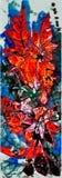 Waterverf en grafische kristalvogel en bloem Royalty-vrije Stock Fotografie