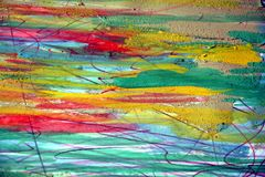 Waterverf en modder abstracte achtergrond Stock Foto's