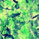 Waterverf etnisch naadloos patroon Stock Afbeeldingen