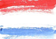 Waterverf Franse vlag, abstracte banner van Frankrijk Royalty-vrije Stock Fotografie