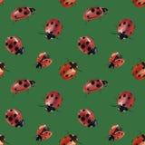 Waterverf geschilderde lieveheersbeestjes stock illustratie