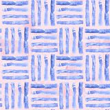 Waterverf gestreept naadloos patroon Artistieke lijnachtergrond stock illustratie