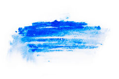 Waterverf, gouacheverf De blauwe Abstracte vlekken ploeteren plonsen met ruwe textuur Stock Afbeelding