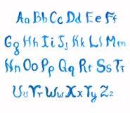 Waterverf hand-drawn alfabet Royalty-vrije Stock Fotografie