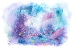 Waterverf het abstracte schilderen de tekening van de waterkleur De textuurachtergrond van Watercolourvlekken vector illustratie