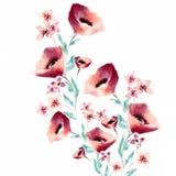 Waterverf het Bloemen Schilderen Stock Afbeelding