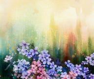 Waterverf het Schilderen Kersenbloesems, Japanse kers, Roze Sakura vector illustratie