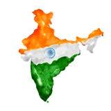 Waterverf het schilderen van Indische kaart Royalty-vrije Stock Fotografie