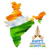 Waterverf het schilderen van Indische kaart Royalty-vrije Stock Foto's