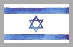 Waterverf Israel Flag Stock Foto's