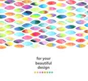 Waterverf kleurrijke abstracte achtergrond Stock Afbeelding