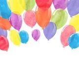 Waterverf kleurrijke ballons royalty-vrije illustratie