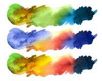 Waterverf kleurrijke plons Royalty-vrije Stock Foto's