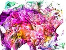 Waterverf kleurrijke plons Royalty-vrije Stock Foto