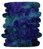 Waterverf kosmische achtergrond, de vorm van de borstelslag Royalty-vrije Stock Foto's