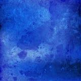 Waterverf marineblauwe kleur Royalty-vrije Stock Fotografie
