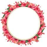 Waterverf met de hand geschilderde bloemenbanner in tropische stijl Royalty-vrije Stock Foto's