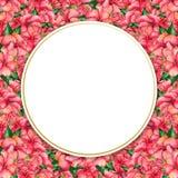 Waterverf met de hand geschilderde bloemenbanner in tropische stijl Royalty-vrije Stock Fotografie