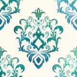Waterverf naadloos behang in de stijl van Barok Kan voor achtergronden worden gebruikt en de pagina vult Webontwerp Vector illust Royalty-vrije Stock Afbeeldingen