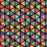 Waterverf naadloos kleurrijk patroon Groot voor stof, textiel, behang stock illustratie