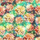 Waterverf naadloos patroon Stock Afbeelding
