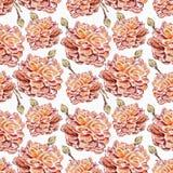 Waterverf naadloos patroon Royalty-vrije Stock Afbeelding