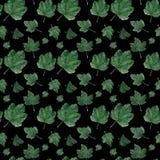Waterverf naadloos patroon Besbladeren vector illustratie